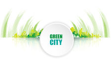 Green city. Ecology concept. Save life and environment Stock Image