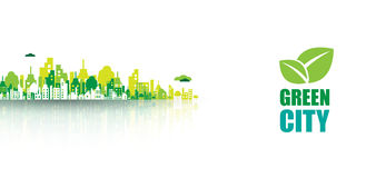 Green city. Ecology concept. Save life and environment Royalty Free Stock Image