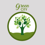 Green city and ecology design. Tree icon. Green city and ecology theme. Isolated and button design. Vector illustration Royalty Free Stock Photography