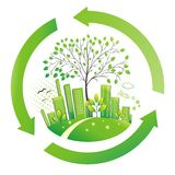 Green city. Environment background. Royalty Free Stock Image