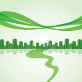 Green city escape royalty free illustration