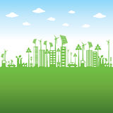 Green city or go green or save earth concept Royalty Free Stock Image