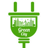 Green city icon Royalty Free Stock Images