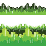 Green city,  illustration, background Royalty Free Stock Photo