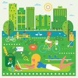 Green city illustration Stock Photography