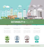 Green city infographic Stock Photos
