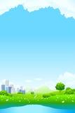 Green City Landscape Stock Images