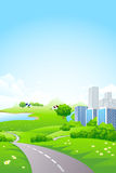 Green City Landscape Stock Photos