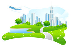 Green City Landscape Royalty Free Stock Photography