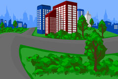 Green City Landscape Stock Photo