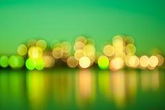 Green city lights royalty free stock image