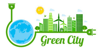 Green city logo. This is Green city logo design.  file Royalty Free Stock Photo