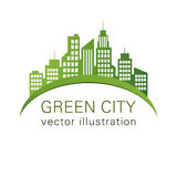 Green City logo, ecology design Stock Images