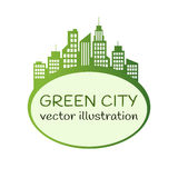 Green City logo, ecology design Royalty Free Stock Image
