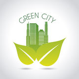 Green city royalty free illustration