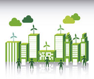 Green city Royalty Free Stock Photo