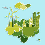 Green city renewable resources. Stock Photography