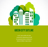 Green city and skyline icon Stock Photos