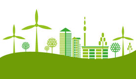 Green city town background Stock Images
