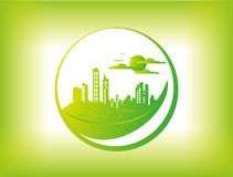 Green city town background Royalty Free Stock Photography