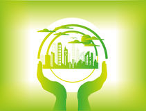 Green city town background Stock Photography