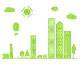 Green city. Vector . Stock Image