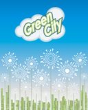 Green City, Way to the Future, Vector illustration Stock Images