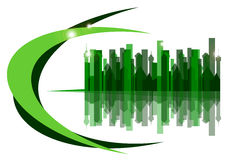 the green city on a white background Royalty Free Stock Image