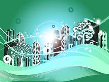 Green Cityscape royalty free illustration
