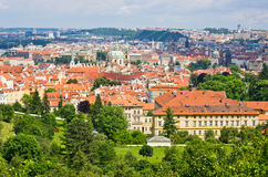 Green cityscape of Prague Royalty Free Stock Images
