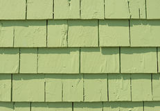 Green Clapboard siding Stock Photo