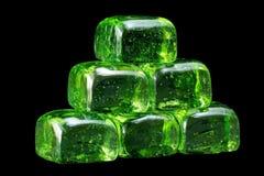 Green Class Block Pyramid Stock Photos
