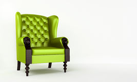 Green classic armchair Stock Photos