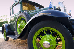 Green classic car Stock Photos