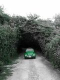 Classic in green under the arch Royalty Free Stock Image