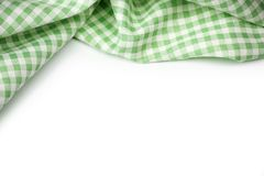 Green classic checkered fabric. royalty free stock images
