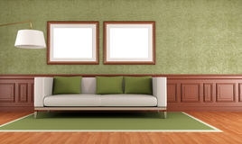 Green classic interior Royalty Free Stock Photo