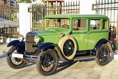 Green classical car Stock Photo