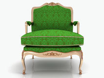 Green classical stylish armchair Royalty Free Stock Photos