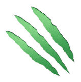 Green claws scratches Stock Images