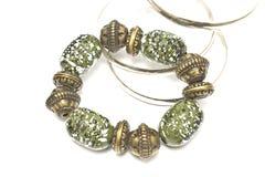 Green clay bracelet Stock Photos