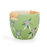 Green clay flower pot Stock Image