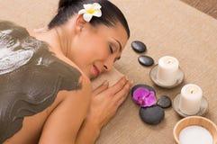 Free Green Clay Treatment At Spa Stock Photo - 35891950