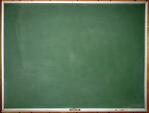 Green clean chalkboard Stock Photos