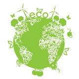 Green clean earth Royalty Free Stock Image