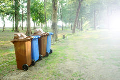 Green and Clean Environment. Trash bin, Green and Clean Environment Royalty Free Stock Photos