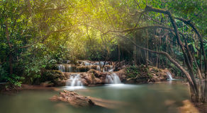 Green and clean waterfall. Tee Lor Su waterfall,Umphang, In Thailand Stock Photography