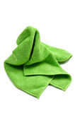 Green cleaning rag Stock Photos