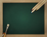 Green clear blackboard Stock Photos