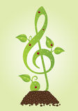 Green clef Stock Photos